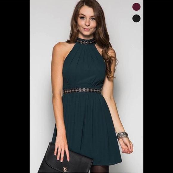 Halter Beaded Dress